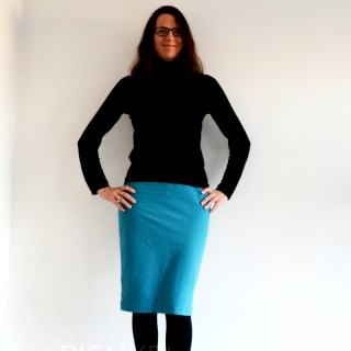 Jocole Knit Pencil Skirt, sewn by Pienkel
