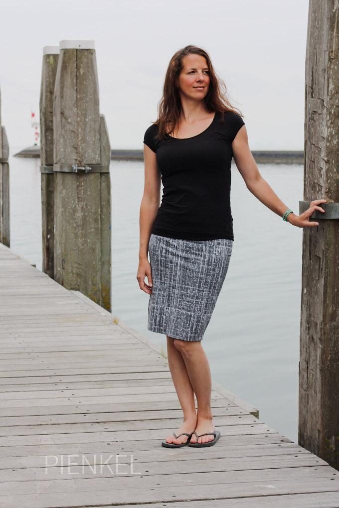 Pienkel Delia Creates Knit Pencil Skirt grey 4