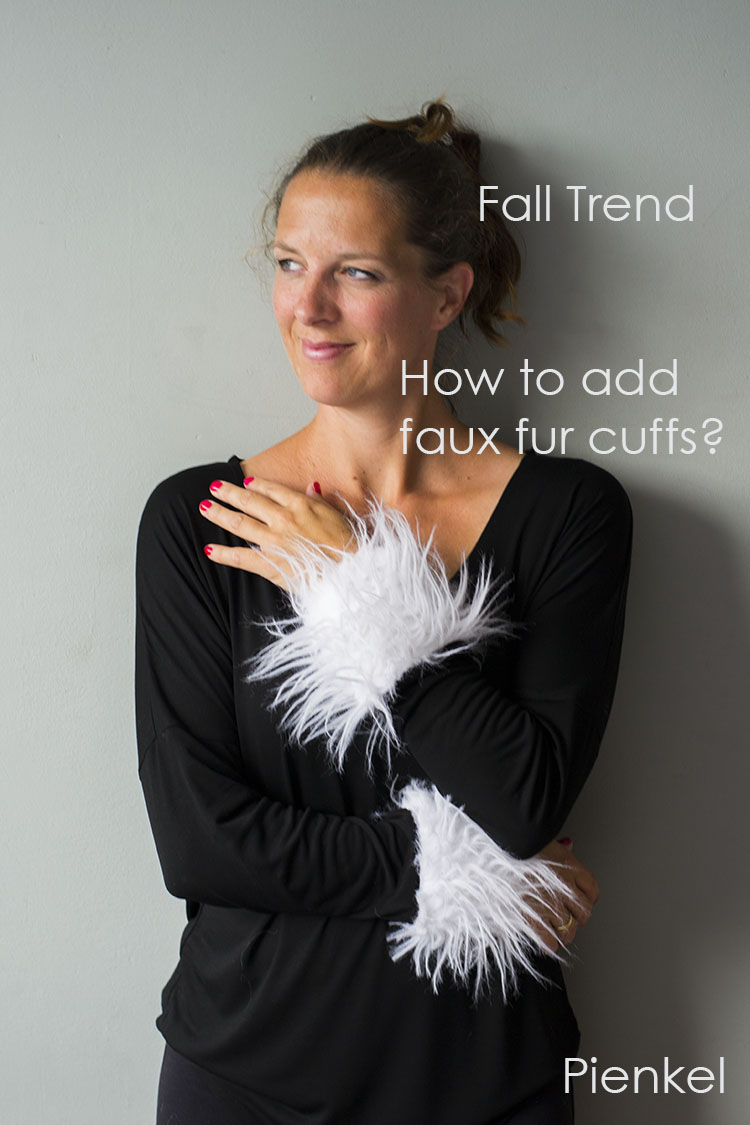 Faux Fur Cuff Tutorial by Pienkel for UpCraft Club
