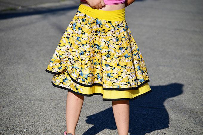 DYYNI skirt   pattern, sz 2y-16y, designed by Pienkel. Sewn by Essence. www.pienkel.com
