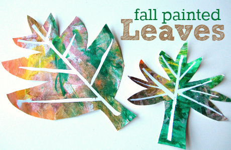 No Time for Flashcards - Easy Fall Leaf Craft