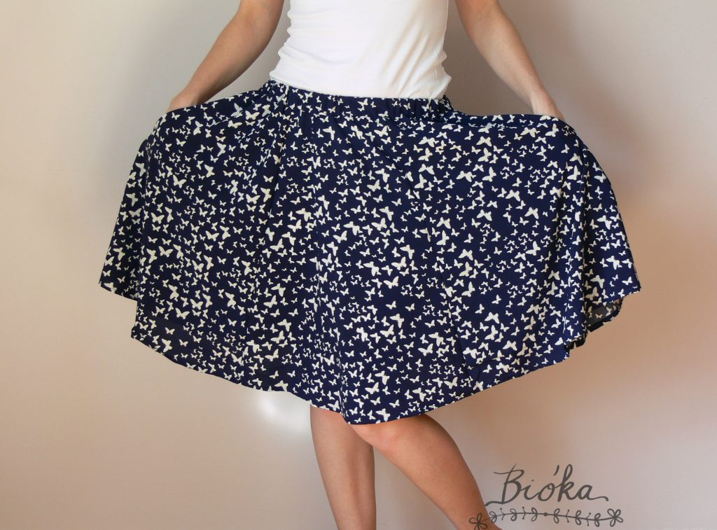 Pienkel DYYNI Ladies Skirt Pattern, sewn and photo by Diana Szabo